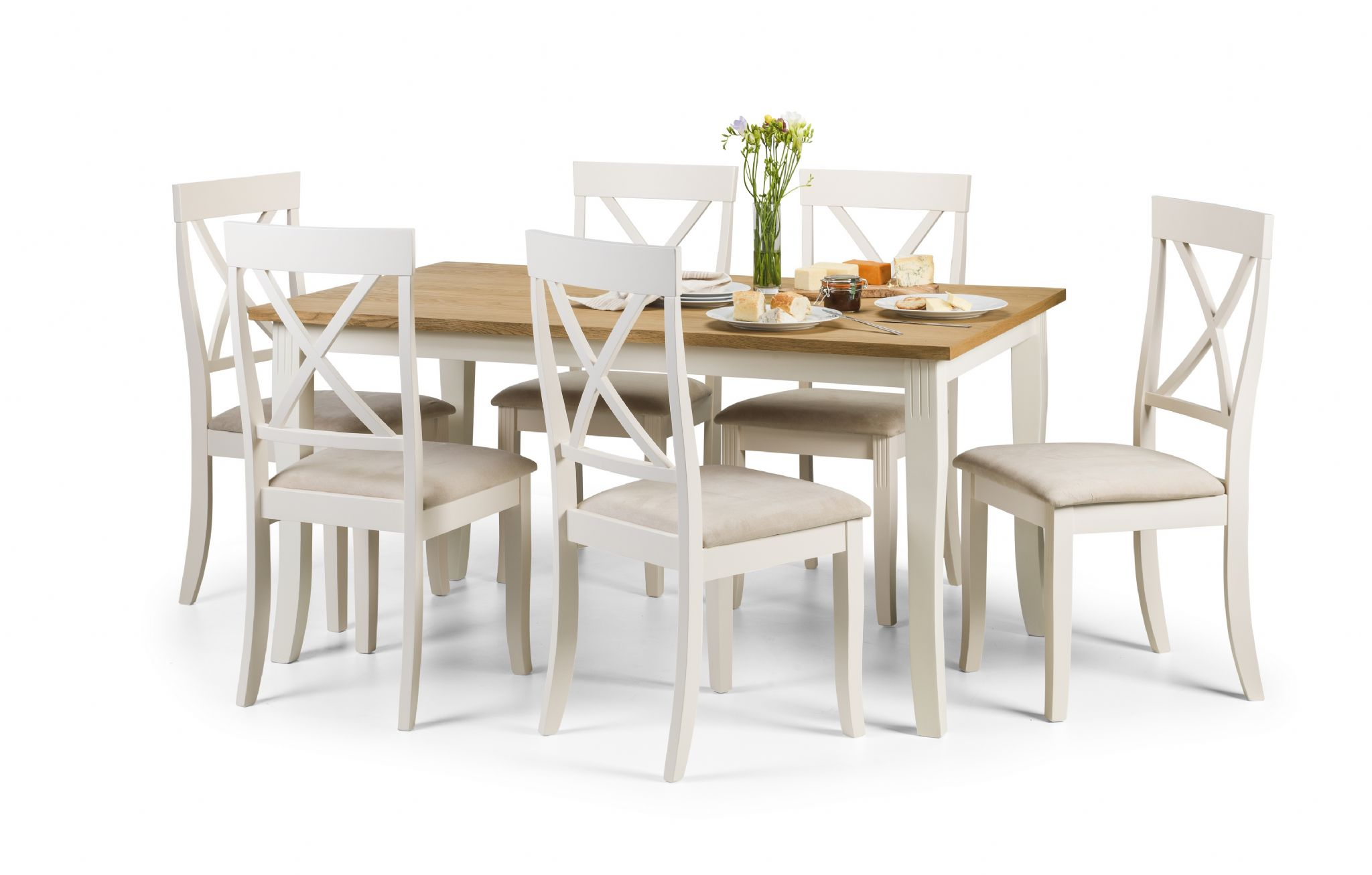 Oiled Oak And Ivory Dining Table JB186